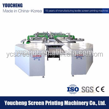 Oval automatic printing machines for t-shirt/garment printing with flash dryer