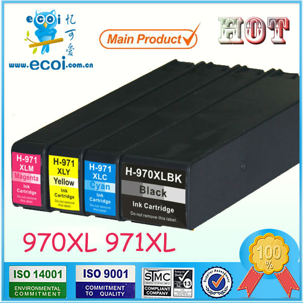 refill ink cartridge for hp 970 971 compatible for officejet Pro X451DN X476DW X551DW