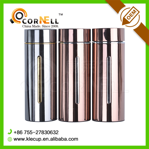 Keep cool 2016 New Year Promotion Drinkware Gift Double Wall 304 Stainless Steel Thermos Vacuum Flask Drinking Bottle