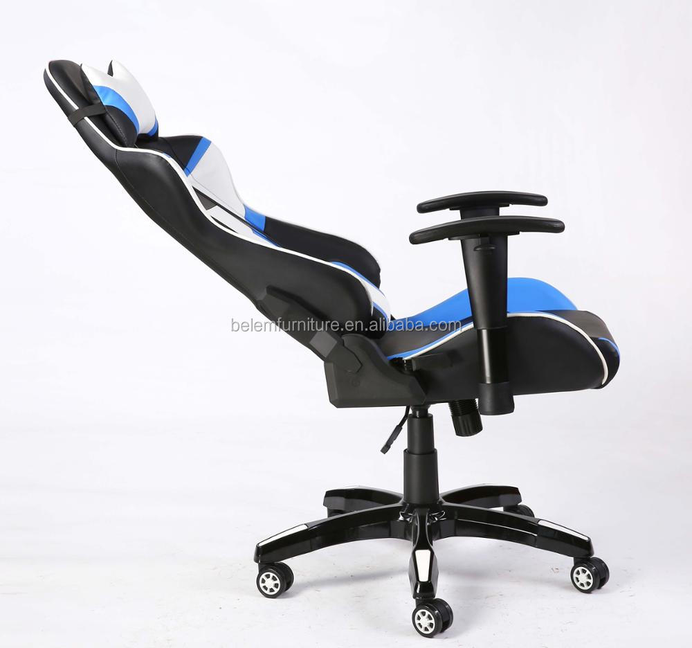 2018 New Design PU Game Racing Chair with 3D Armrest and High Gloss Base -BL7518