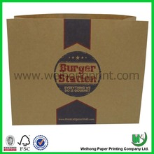 paper mailing bag for fast food, take away paper bag
