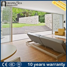 Latest design decorative grill design sliding glass door runners with grill design