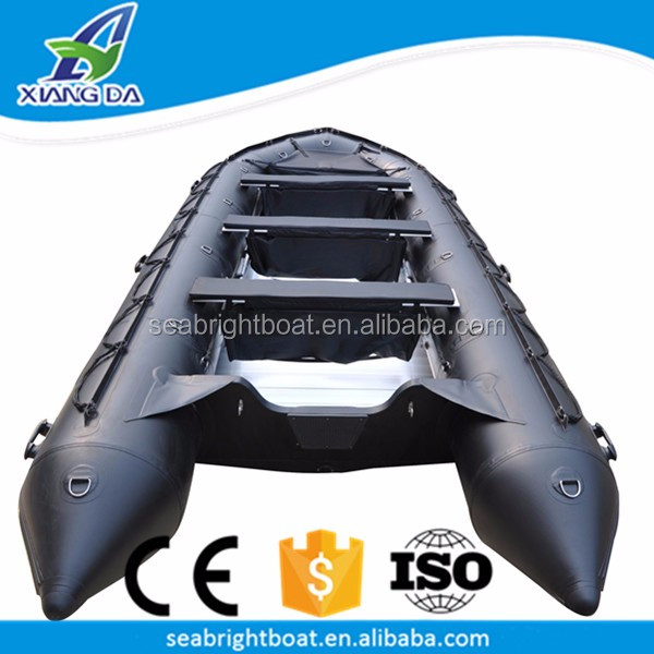 16ft CE Approved PVC Hull Material Aluminum Floor 10 Man Large Inflatable Military Bass River Rowing Boat
