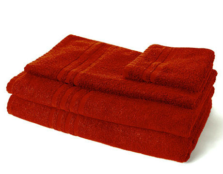 Organic Cotton Bath Towels - Red