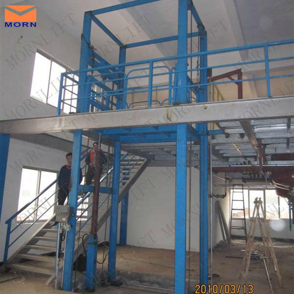 General industrial construction cargo platform goods lift for refrigerator factory