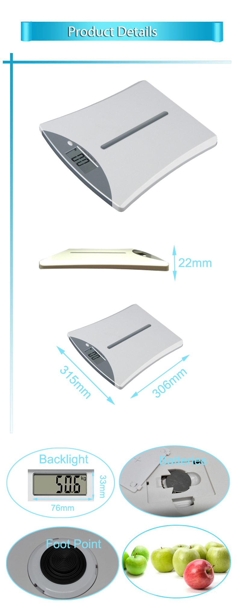 Sunny WS069 Household Design Digital Body Weighing Scale For Bathroom