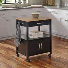 New product latest design solid wood kitchen food service trolley cart