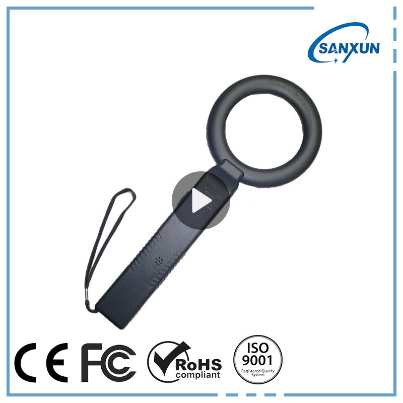 Security check Hand Held Metal detector for examination