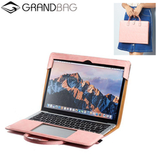 easy carring leather laptop bag fashion design case for macbook pro