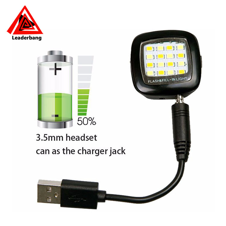 Universal Smartphone 16 LED Photography Light Selfie Flash Fill Light for Smartphone Ios Android