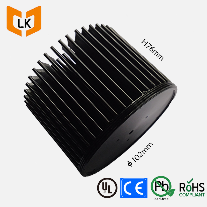 Customized 100mm diameter round aluminum pre-drilled copper pin fin heat sinks led cooler master
