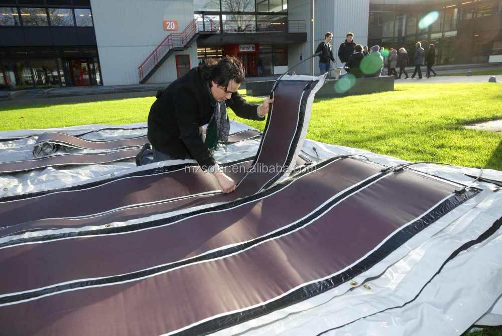 Rolled flexible thin film solar panel