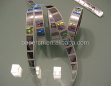 Lianlong company customized 3 d hologram with bar code and serial number