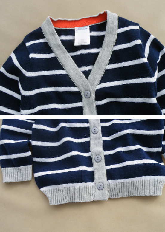 latest design fashion long sleeve sweater boy cardigan with buttons