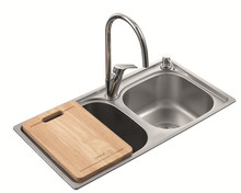Double bowl 202 SUS kitchen sink drain pipe