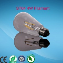 Retro LED Filament Light Bulb ST64 E27 220V Dimmable 4W Smart IC Driver No Flicker Low Heat Replace Edison