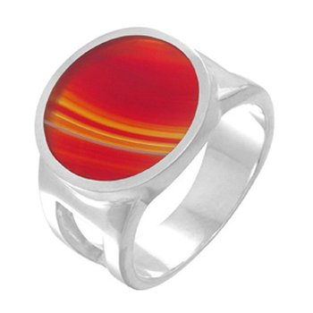 Silver Ring With Carnelian Setting