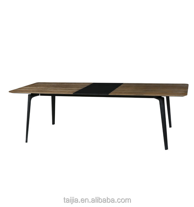 Wood style modern nature ash solid Wood extending dining table