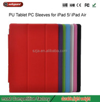 New Products Gravel Texture Foldable Stand Hard PC+Flip Leather Case for iPad 5/iPad Air