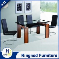 Glass dining set with 4 chairs Royal Oak dining table set