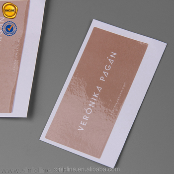 Sinicline small custom white logo brown print stickers for swimwear