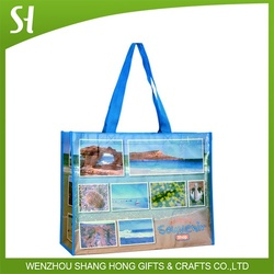 brilliant laminated full color print pp non woven shopping bag