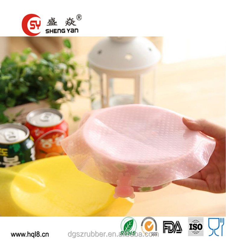 Wholesale cheap soft round shape silicone plastic wrap