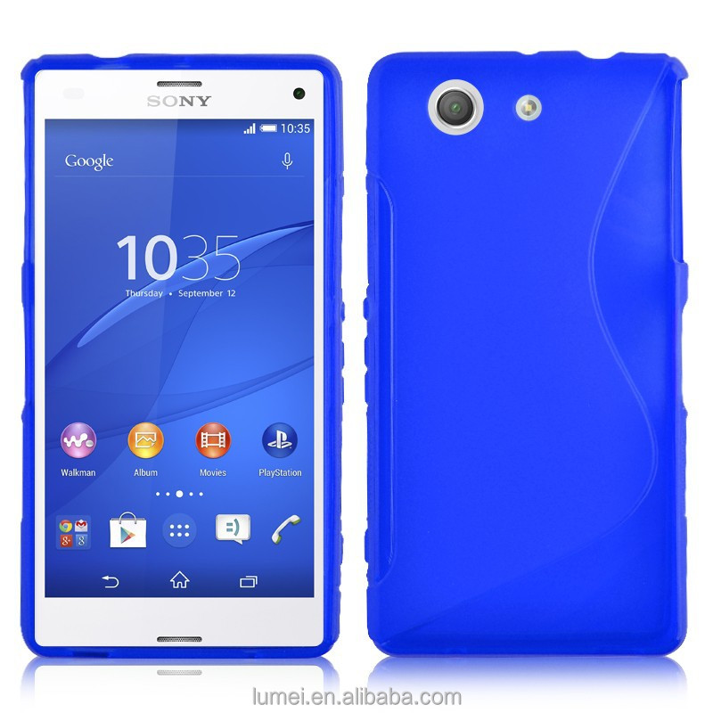 S Shape Soft Gel Silicone Case Cover For Sony Xperia Z3 Mini