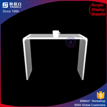 Popular rectangular n shape design acrylic Solid Surface cheap office furniture small office desk