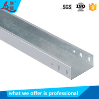 OEM manufacturer price hot dip galvanized cable management GI cable tray and cable trunking sizes