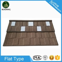 Colorful Flat roof shingles prices,roof tile prices made in China