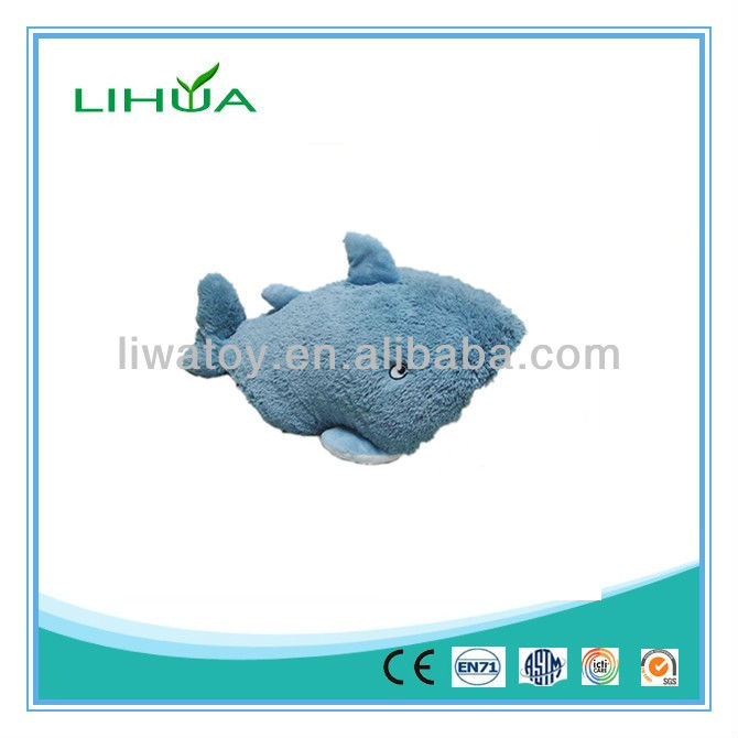 Blue color baby shark plush toy
