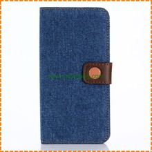 Cowboy Jeans Style PU Wallet PU Leather Case for iPhone X