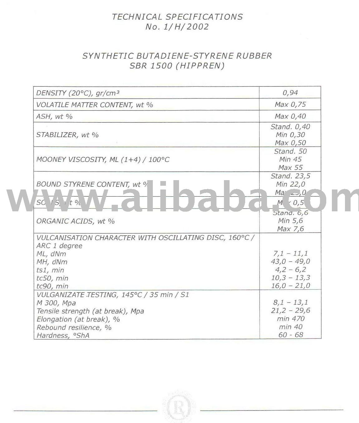 SBR 1500 Synthetic Styrene-Butadiene Rubber