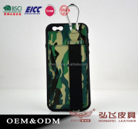 top sale camouflage pattern leather back case for Iphone 6/6 plus factory wholesale