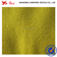 shaoxing textile top supplier felt wool polyester blend fabric / ttr velvet wool-touch fabrics / TWO SIDE WITH BRUSHED FABRIC
