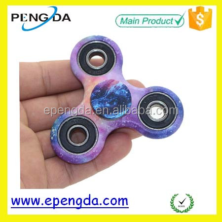 Wholesale high quality custom spinner,colorful finger spinner toy with Print design,air brush toy spinner