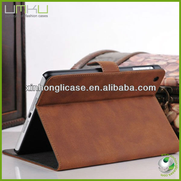 2013 New Products Universal Smart Phone Wallet Style Leather Case for iPad mini