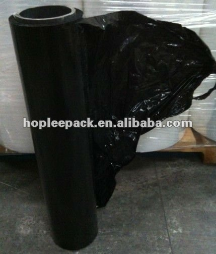 Clear/ Black Shrink plastic film/ PE stretch film/ stretch folie