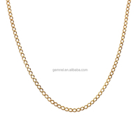 China wholesale simple design tiny chain choker necklace gold jewellery