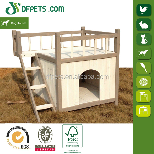 Cheap Price Wooden Dog Kennel With Ladder