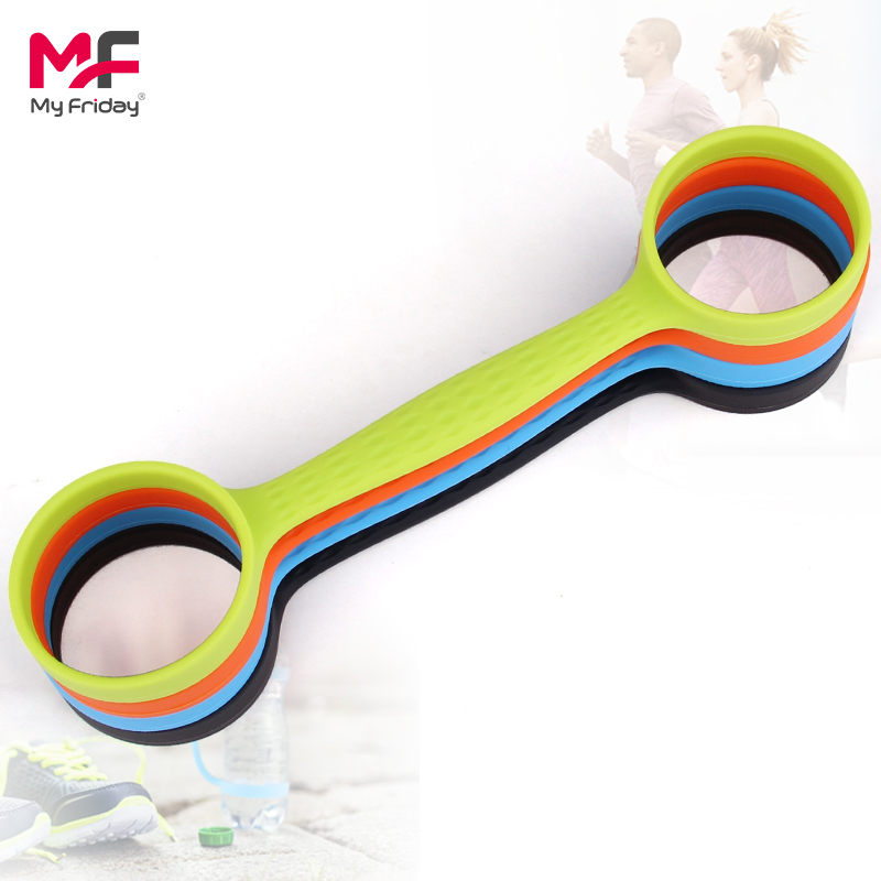 Convenient custom design reusable soft plastic water bottle handle
