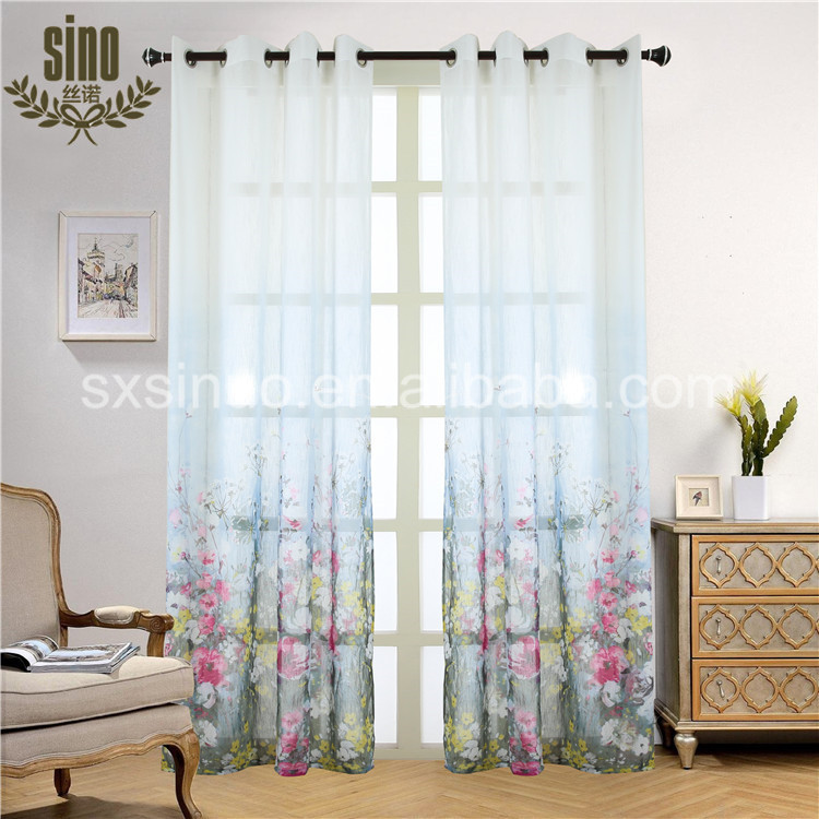 Good quality sell well coloured voile curtains