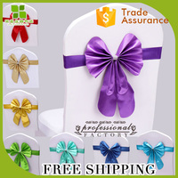 freetie Leather Bow Wedding Chair Sash christmas Chair Cover Sashes for Party decoration