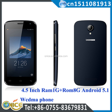 all china mobile company doogee phone 4.5 inch 1G+8G MTK6580 made in china alibaba doogee x3