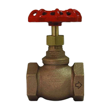 300PSI Saturated Rising Stem BSPF Screwed-in Bonnet Bronze Globe Valve for Non-Shock Cold Water, Oil or Gas