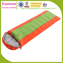 Wholesale high quality 170T plyester and hollow cotton sleeping bag for hiking travel in stock