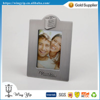 Manufacturer trendy Pewter Finish Vacation Metal Small Picture Frame
