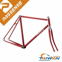 Taiwan suppliers Passense quality lugged steel bicycle frame