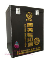 wholesale business exclusive leather wine carrier